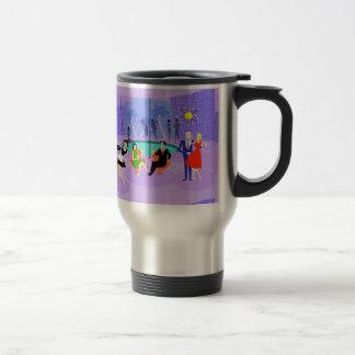 Retro Tropical Cocktail Travel Mug