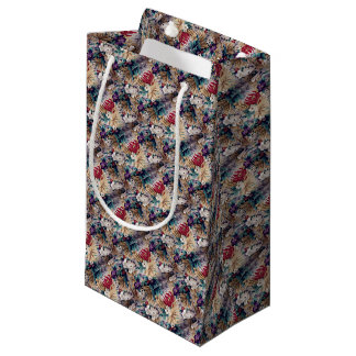 Retro Tropical Flower Pattern Small Gift Bag