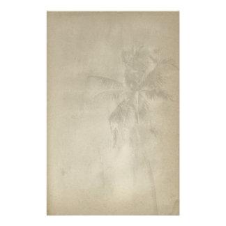Retro Tropical Palm Tree Paper Stationery