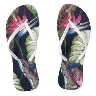 RETRO TROPICAL Slim Strap FlipFlops Thongs Flip Flops