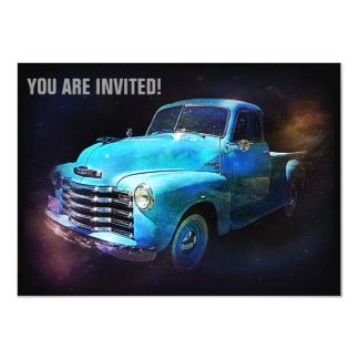 Retro Truck is Out of This World 4.5x6.25 Paper Invitation Card