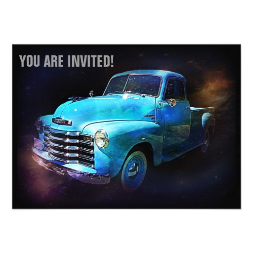 Retro Truck is Out of This World Invitations