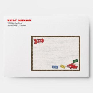 Retro Truck Party Envelope for Invitation