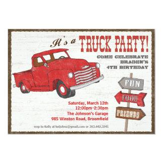 Retro Truck Party Invitation
