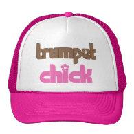 Retro Trumpet Chick Gift Mesh Hat