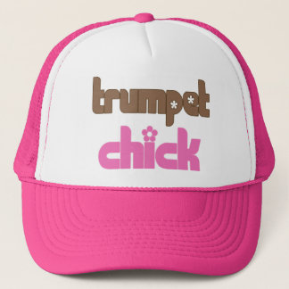 Retro Trumpet Chick Gift Trucker Hat