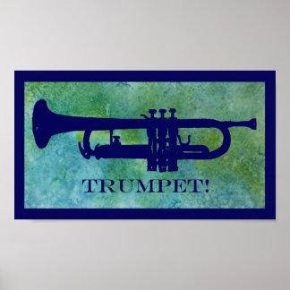 Retro Trumpet Poster