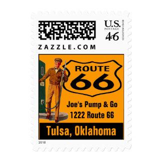 Retro Tulsa Oklahoma Travel Gas Route 66 Vintage Stamps