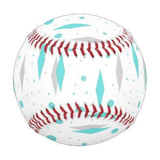 Retro Turquoise Diamond & Starburst Baseball