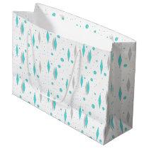 Retro Turquoise Diamond & Starburst Gift Bag