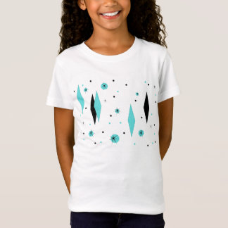 Retro Turquoise Diamonds & Starbursts T-Shirt