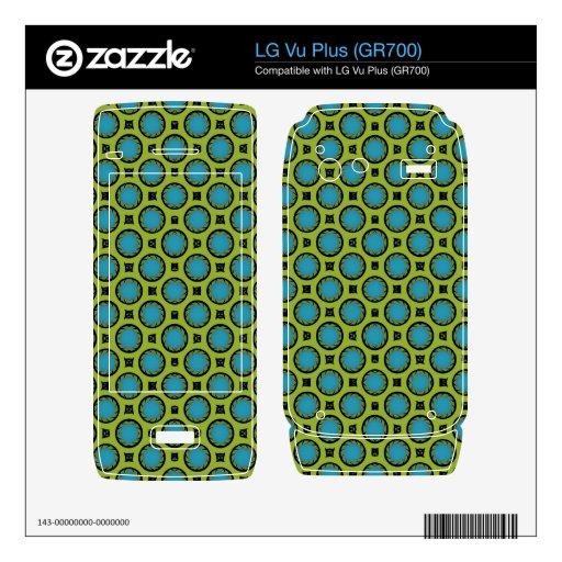 retro turquoise green circle pattern LG vu plus skins