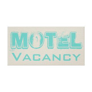 Retro Turquoise Motel Canvas Sign
