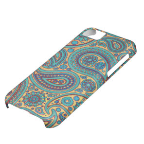 Retro Turquoise Paisley iPhone 5C Cover