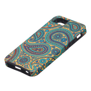 Retro Turquoise Paisley iPhone SE/5/5s Case
