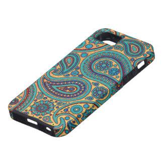 Retro Turquoise Paisley iPhone SE/5/5s Case
