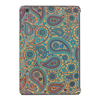 Retro Turquoise Rainbow Paisley motif iPad Mini Cover