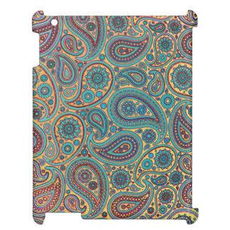 Retro Turquoise Rainbow Paisley motif Cover For The iPad 2 3 4