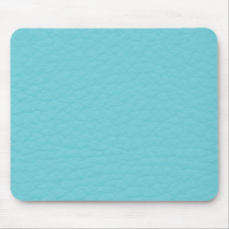 Retro Turquoise Teal Leather Custom Mouse Pad