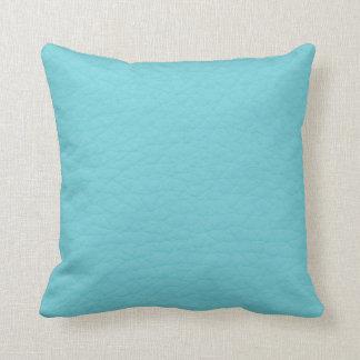 Retro Turquoise Teal Leather Custom Pillow