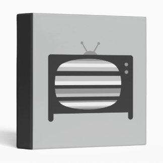 Retro TV 3 Ring Binder