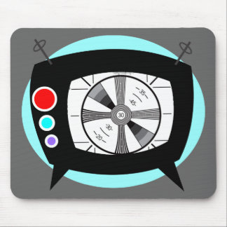 Retro TV and Test Pattern Mouse Pad