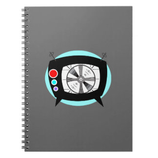 Retro TV and Test Pattern Notebook