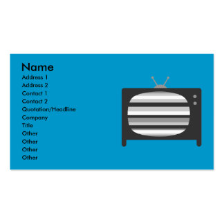 Retro TV Business Cards Standard Business Cards