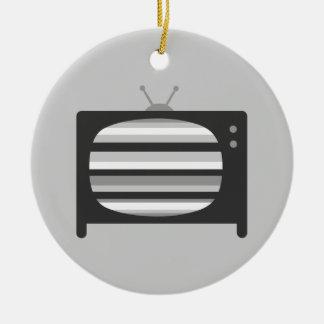 Retro TV Ceramic Ornament