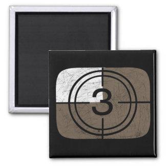 Retro TV 2 Inch Square Magnet