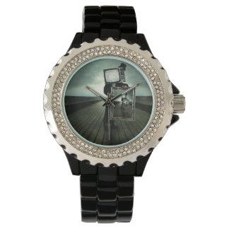 Retro tv men wristwatch