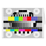 Retro TV multicolor signal test pattern Cards