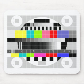 Retro TV multicolor signal test pattern Mouse Pads