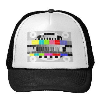 Retro TV multicolor signal test pattern Trucker Hat