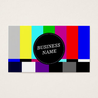 Retro TV Screen Advertising Business Card