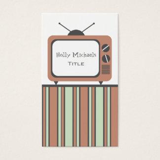 Retro TV Set Business Card