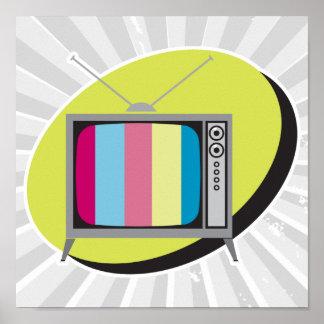 retro tv television poster