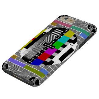 Retro TV Text Pattern Tough iPhone 6 Plus Case