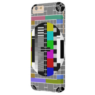 Retro TV Text Pattern Barely There iPhone 6 Plus Case
