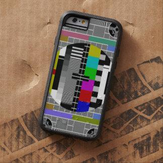 Retro TV Text Pattern Tough Xtreme iPhone 6 Case