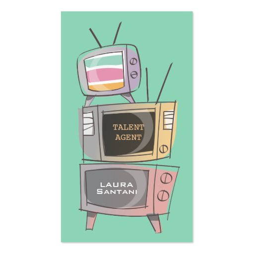 Retro TV's Acting Agent Agency Show Business Cards