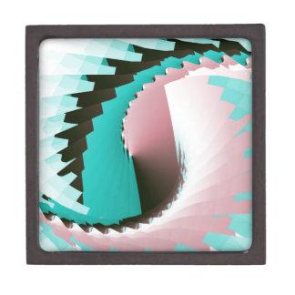 Retro Twist Pink Blue Premium Gift Box