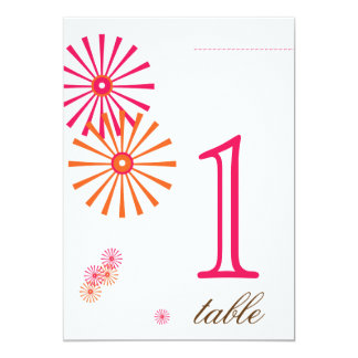Retro Twist Star Burst Anniversary Table Number