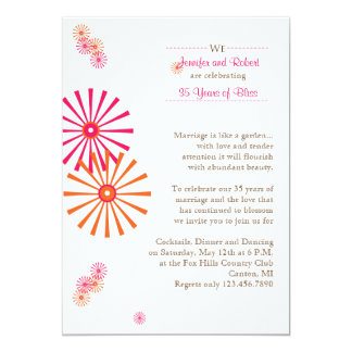 Retro Twist Star Burst Wedding Anniversary Card