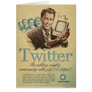 Retro Twitter Social Media Ad by Send My Love Card