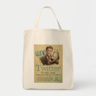 Retro Twitter Social Media Ad by Send My Love Tote Bag