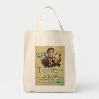 Retro Twitter Social Media Ad by Send My Love Tote Bag