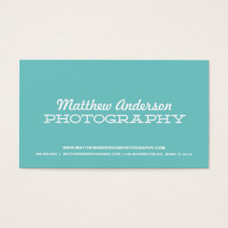 RETRO TYPE | PHOTOGRAPHY BUSINESS CARD