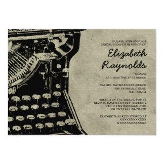 Retro Typewriter Keys Bridal Shower Invitations Invitations