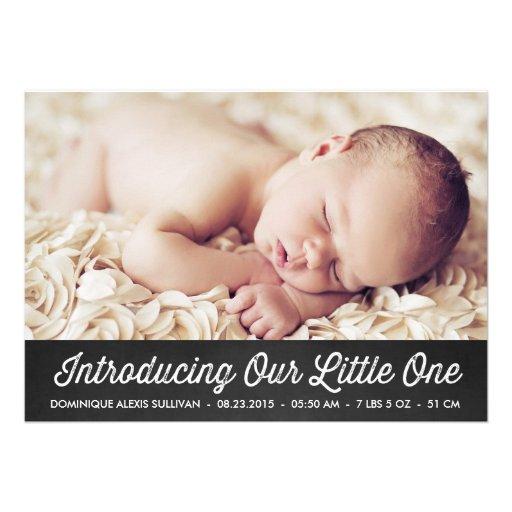 RETRO TYPOGRAPHY | CHALKBOARD BIRTH ANNOUNCEMENT